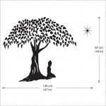 สติกเกอร์ติดผนัง Buddha in Meditation Wall Sticker