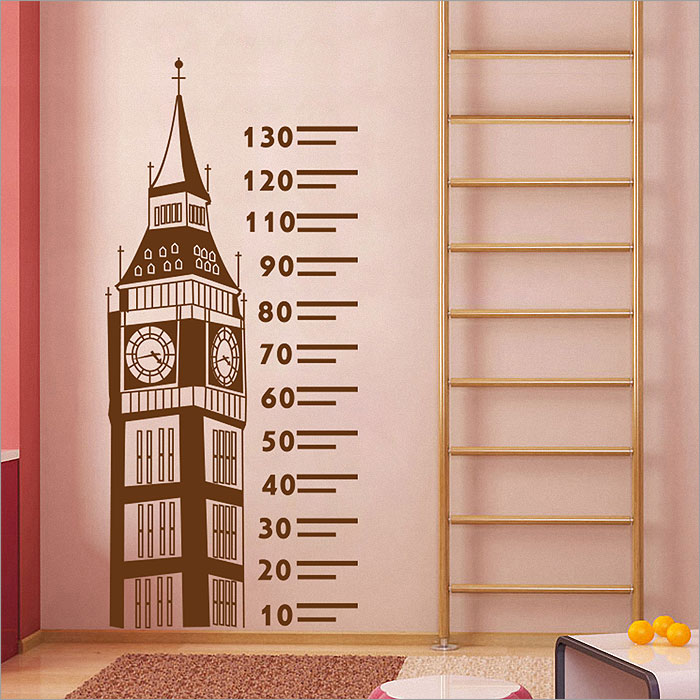 Big Ben Ruler Height Chart Vinyl Wall Art Decal Part 79