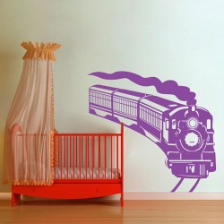 Steam Locomotive Train Vinyl Wall Art Decal (WD-0559)
