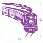 สติกเกอร์ติดผนัง Steam Locomotive Train Wall Sticker
