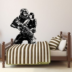 Halo 4 Master Chief Return Vinyl Wall Art Decal (WD-0561)