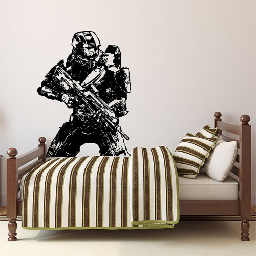 สติกเกอร์ติดผนัง Halo 4 Master Chief Return Wall Sticker