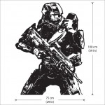 Halo 4 Master Chief Return Vinyl Wall Art Decal