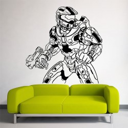 Halo 4 Master Chief Vinyl Wall Art Decal (WD-0564)
