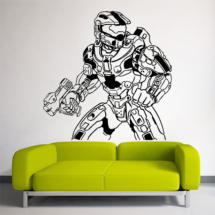 Halo 4 Master Chief Vinyl Wall Art Decal