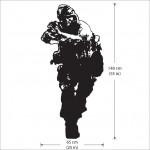 สติกเกอร์ติดผนัง Call of Duty 4 Modern Warfare Wall Sticker