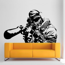 Call of Duty Sniper Wandaufkleber Wandtattoo (WD-0569)