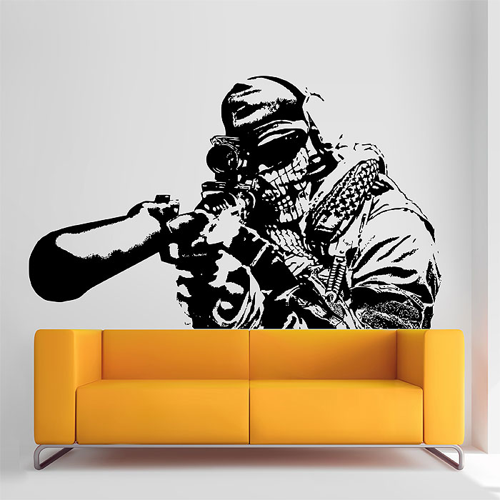 Tattoo Wall Art of duty sniper vinyl wall art decal