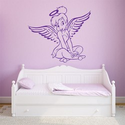 Tinker bell Angel Pink Vinyl Wall Art Decal (WD-0575)