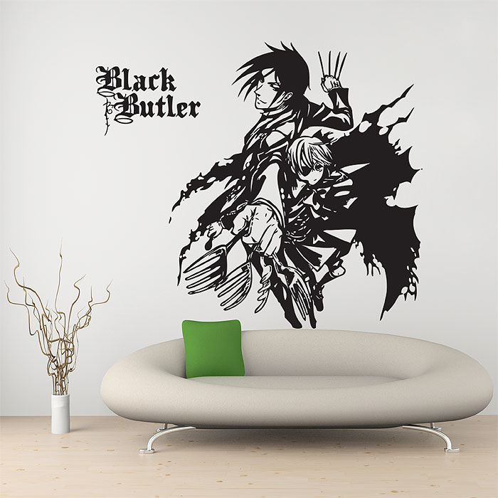 ciel and sebastian black butler vinyl wall art decal