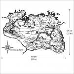 สติกเกอร์ติดผนัง Province of Skyrim Map Wall Sticker