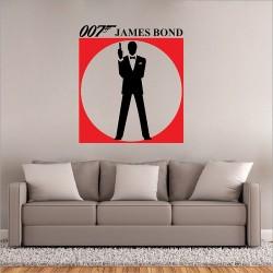 สติกเกอร์ติดผนัง James Bond 007 Version 1 Wall Sticker (WD-0584)