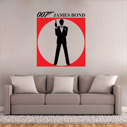 สติกเกอร์ติดผนัง James Bond 007 Version 1 Wall Sticker