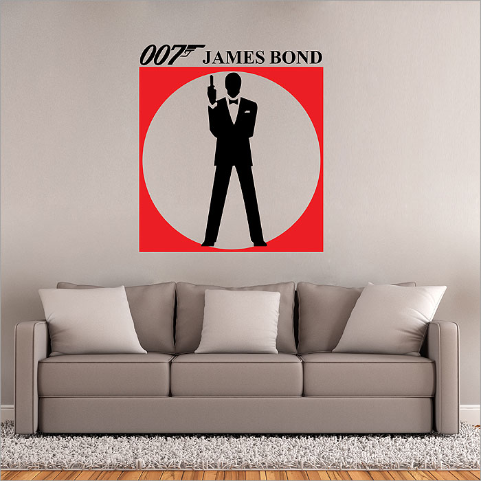 wandtattoo james bond 007 reuniecollegenoetsele. Black Bedroom Furniture Sets. Home Design Ideas