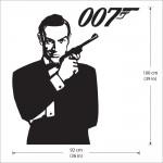 สติกเกอร์ติดผนัง James Bond 007 Version 2 Wall Sticker