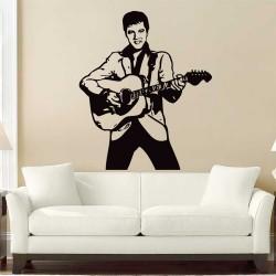 สติกเกอร์ติดผนัง Elvis Presley rock and roll / Wall Sticker (WD-0589)