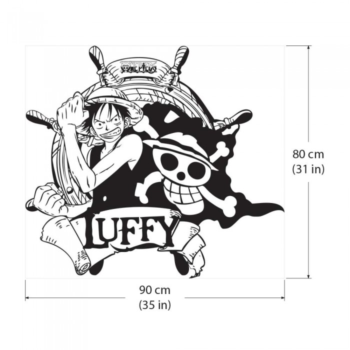 Monkey D Luffy Straw Hat Pirates One Piece Vinyl Wall Art Decal Wd 0593
