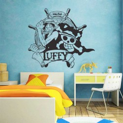 สติกเกอร์ติดผนัง Monkey D. Luffy Straw Hat Pirates One Piece / Wall Sticker (WD-0593)