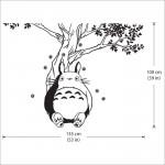 สติกเกอร์ติดผนัง Totoro under the Tree Wall Sticker
