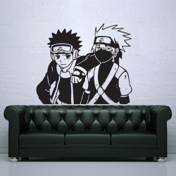 สติกเกอร์ติดผนัง Kakashi and Obito Naruto Wall Sticker (WD-0612)