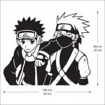 สติกเกอร์ติดผนัง Kakashi and Obito Naruto Wall Sticker