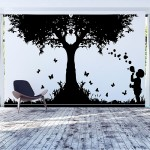 The Kid Blowing Bubbles Vinyl Wall Art Decal