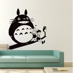 สติกเกอร์ติดผนัง Totoro and Friends Art Wall Sticker (WD-0631)