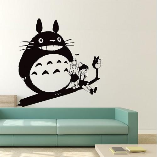 สติกเกอร์ติดผนัง Totoro and Friends Art Wall Sticker
