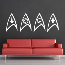Star Trek Insignia Vinyl Wall Art Decal (WD-0633)