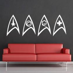 Sternenflotte  Star Trek Insignia Wandaufkleber Wandtattoo (WD-0633)