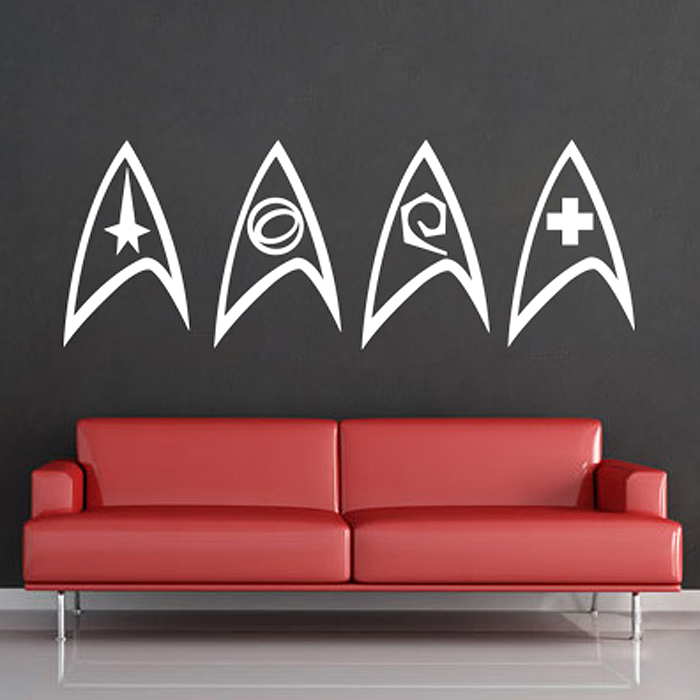 Tattoo Wall Art trek insignia vinyl wall art decal