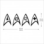 Star Trek Insignia Vinyl Wall Art Decal