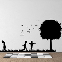 Kids play Vinyl Wall Art Decal (WD-0636)