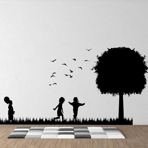 Kids play Vinyl Wall Art Decal