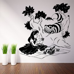 Alice in Wonderland Vinyl Wall Art Decal (WD-0637)