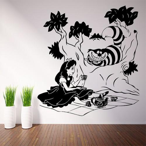 alice im wunderland wandaufkleber wandtattoo. Black Bedroom Furniture Sets. Home Design Ideas