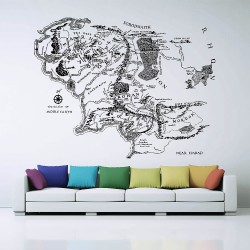 Map of Middle Earth lord of the rings Vinyl Wall Art Decal (WD-0642)