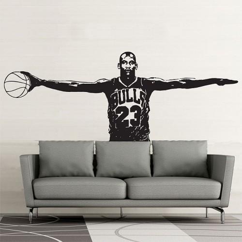 สติกเกอร์ติดผนัง Michael Jordan Wall Sticker