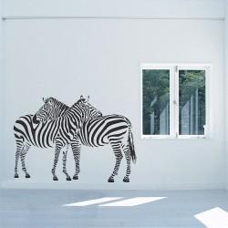 สติกเกอร์ติดผนัง Zebras Family Wall Decal (WD-0660)