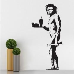 สติกเกอร์ติดผนัง Banksy Caveman Wall Sticker (WD-0673)