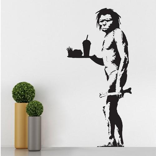 สติกเกอร์ติดผนัง Banksy Caveman Wall Sticker