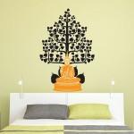 สติกเกอร์ติดผนัง Buddha under The Bodhi Tree Wall Sticker