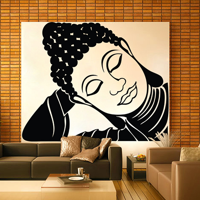 Large Sleeping Tathagat Buddha Vinyl Wall Art Decal (WD 0692)