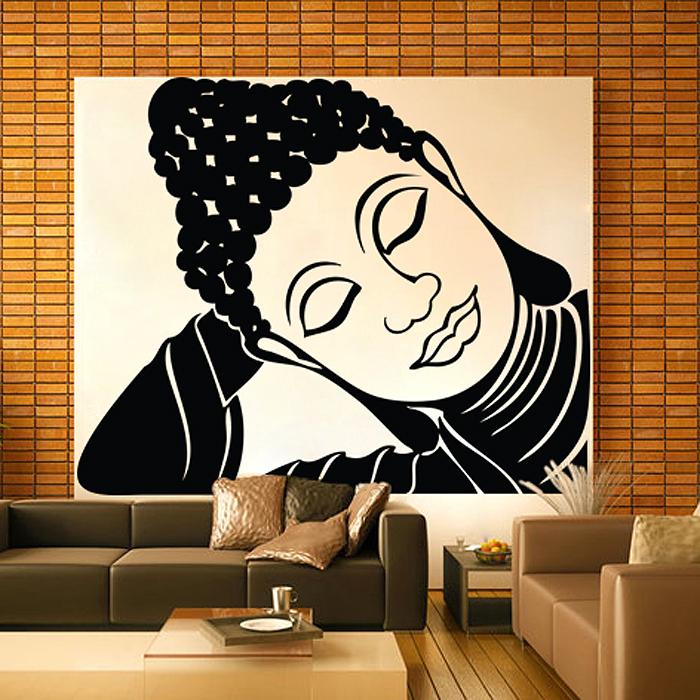 9c2aa4748 Large Sleeping Tathagat Buddha Vinyl Wall Art Decal (WD 0692)