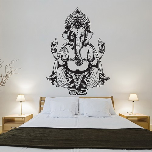 Elephant Ganesha Vinyl Wall Art Decal