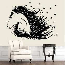 Horse Head Vinyl Wall Art Decal (WD-0695)
