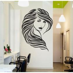 สติกเกอร์ติดผนัง Beauty Hair Salon Wall Sticker (WD-0910)