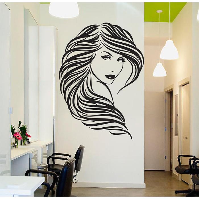 Beauty Hair Salon Vinyl Wall Art Decal