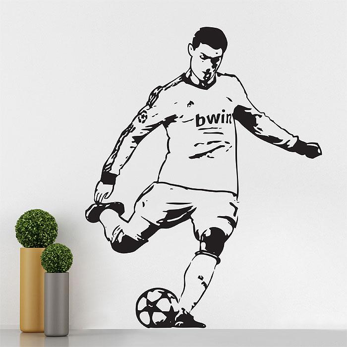 Cristiano Ronaldo Football Soccer Players Free Kick Vinyl Wall Art Decal