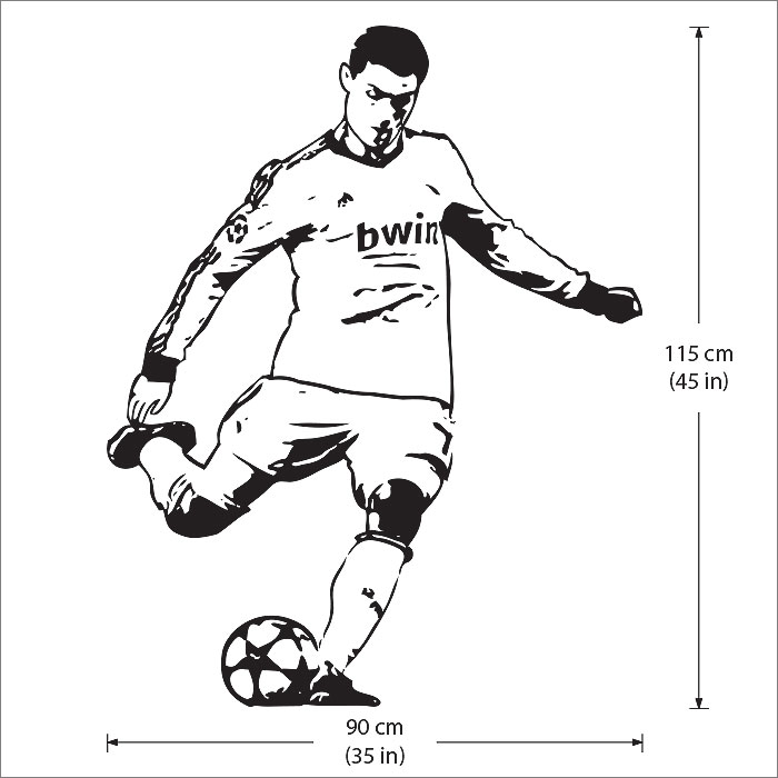 Football Wall Sticker Cristiano Ronaldo Poster Football